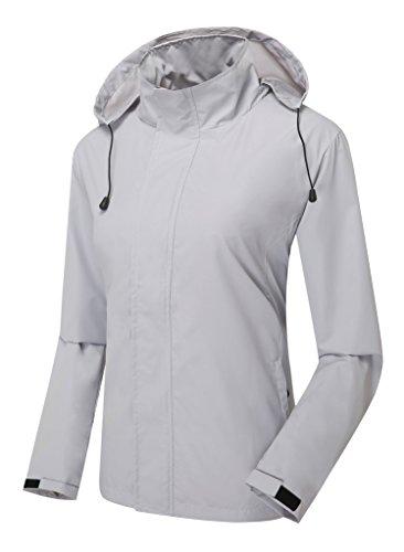 ZSHOW Women's Outdoor Recreation Packable Lightweight Skin Mountain Jacket Quick Dry(Grey,Medium)