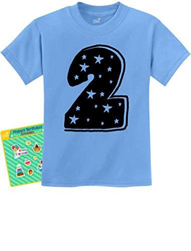 TeeStars Two Years Old Cute Birthday Gift Idea - I'm 2 Superstar Kids T-Shirt 2T California (Cute 2 Year Old Boy)