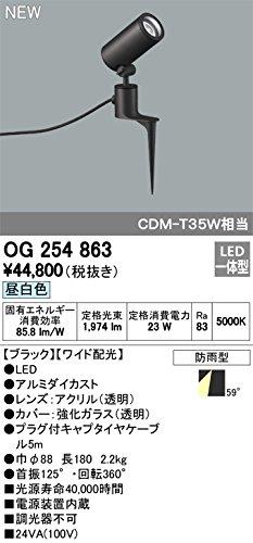 ODELIC(オーデリック) LEDスパイクスポットライト エクステリア 防雨型 ワイド配光 昼白色 OG254863 B07DQFSYCQ 20320