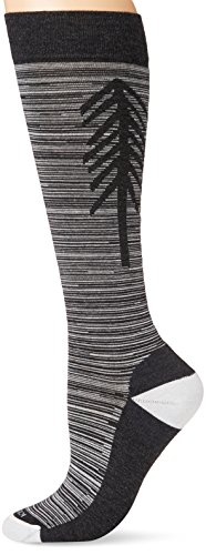 Icebreaker Merino Women's Lifestyle Light Over The Calf Socks, Jet Heather/Snow, Large by Icebreaker Merino (Image #1)