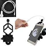 Moutoc Universal Cell Phone Adapter Mount & Camera Shutter Wire Control Smartphone – Compatible Binoculars Monocular Spotting Scope Telescope Microscope Phone Samsung Sony Moto Etc