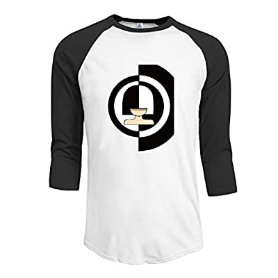 Men's SIA- BLACK AND WHITE 3/4-Sleeve Raglan T Shirts Black