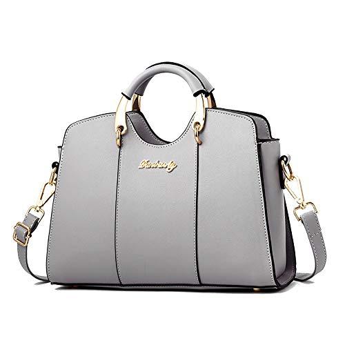 Solo spalla Pu nero da a Fashion Case grigio Borse Ladies donna Pure HYTwOzq7Wx