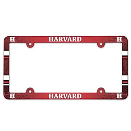Amazon.com : Harvard Crimson Plastic License Plate Frame : Sports ...