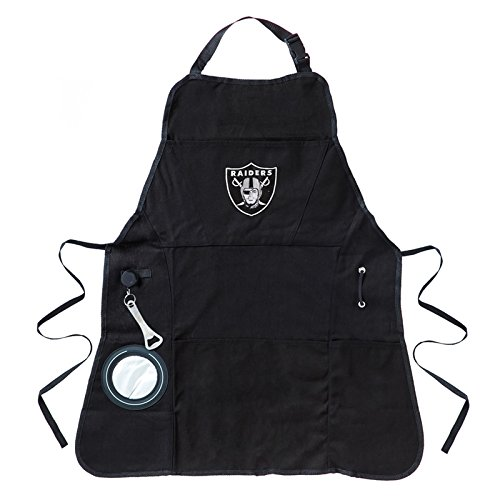 Ashley Gifts Customizable Embroidered Apron, Mens, Oakland Raiders