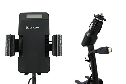 SANOXY Easy View LCD Screen Universal FM Transmitter Hands Free Car Holder HandsFree car kit for Samsung, LG, HTC, Sony, Android Smartphones with micro USB by SANOXY