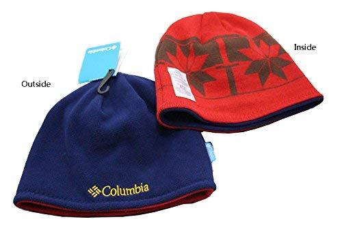 Columbia Winter Thicken Polar Fleece Knit Ski Reversible Beanie Hat (Blue 23f2ec5dcbae