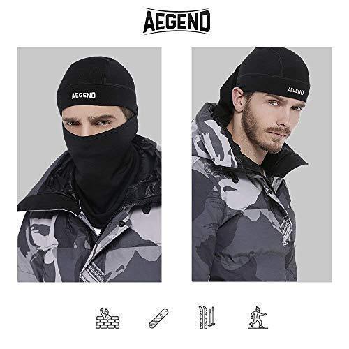 Balaclava Face Mask Neck Warmer Tactical Balaclava Women Cycling Helmet Liner Mask-Black, 1