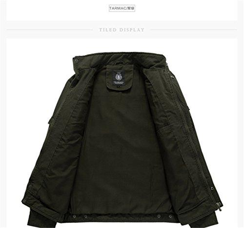 Hiver Automne Coton Homme Noir Printemps Et Veste O0qwc