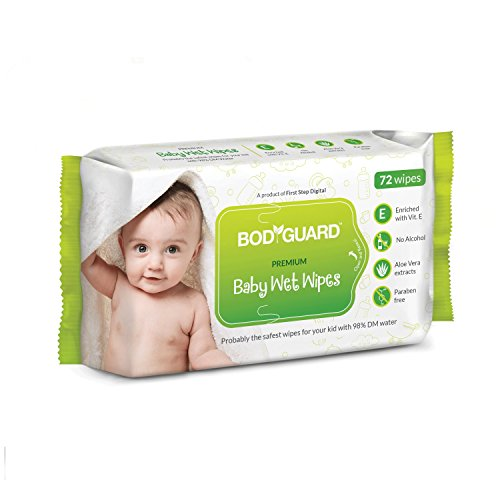 BodyGuard Baby Wet Wipes – (3 Packs, 72 Wipes per Pack)