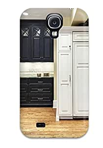 New Premium ZippyDoritEduard Traditional Kitchen With Wall Ovens And Paneled Fridge Skin Case Cover Excellent Fitted For Galaxy S4
