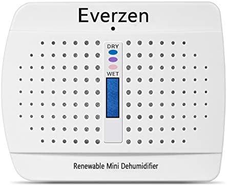 Everzen Rechargeable Mini Dehumidifier, Moisture Absorber for Small Spaces, Gun Safes, Closet, Bathroom, Cars, RV, Home, Basements& Kitchen, Rust Prevention, Desiccant Box Removes Damp Air
