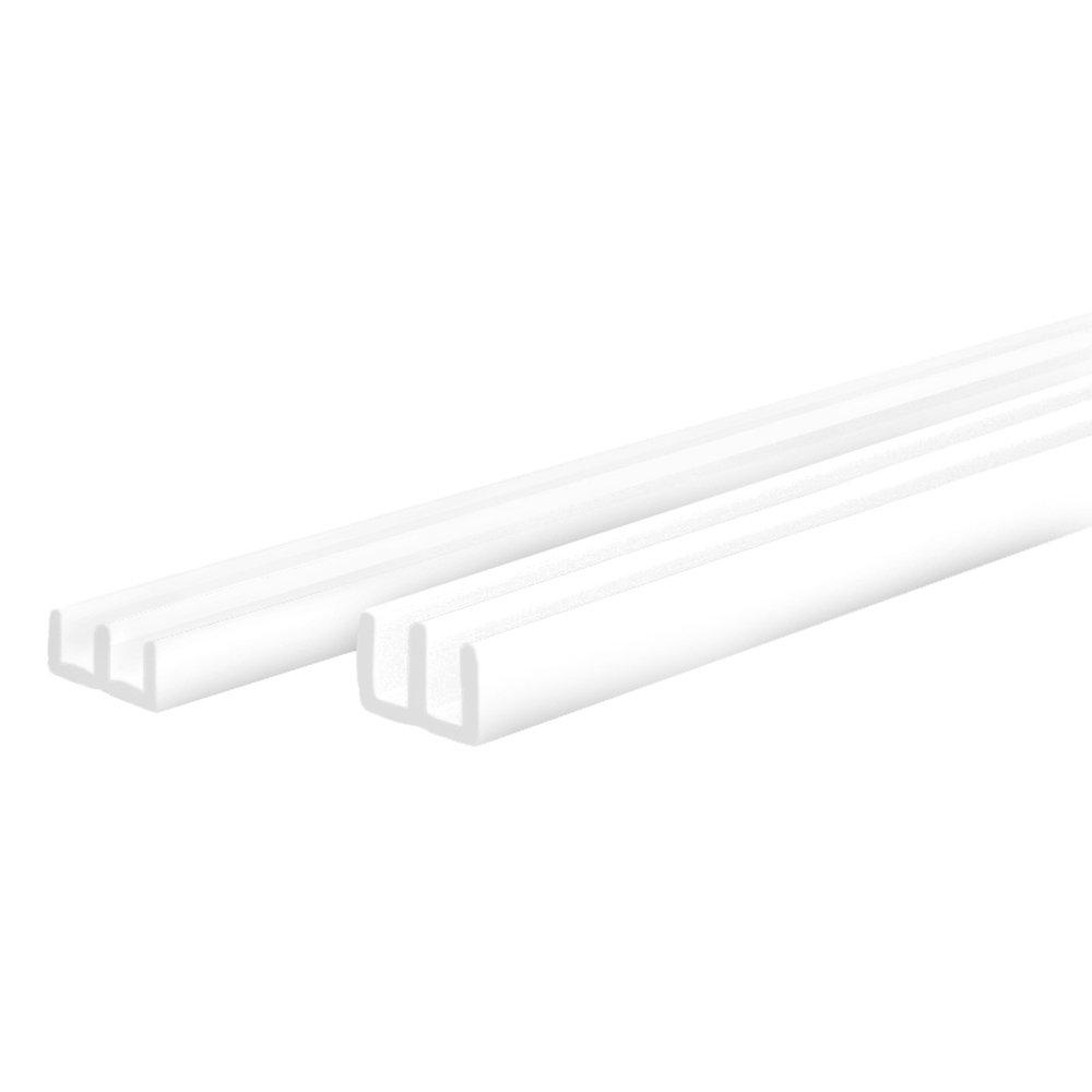 unten E-Profil f/ür 6 mm Glasst/ärke Glasf/ührungs-Schiene F/ührungs-Schiene f/ür Terrarien F/ührungsprofil PROHEIM Glasf/ührungs-Profil Set Oben