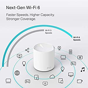 TP-Link WiFi 6 Mesh WiFi AX1800 Whole Home Mesh WiFi System - Covers up to 5800 Sq. Ft., Nex-Gen Wi-Fi 6, Replaces…