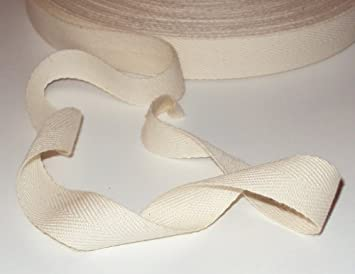 Cotton Herringbone Tape 20mm  In 13 Colours Bunting Aprons /& Bag Making Straps