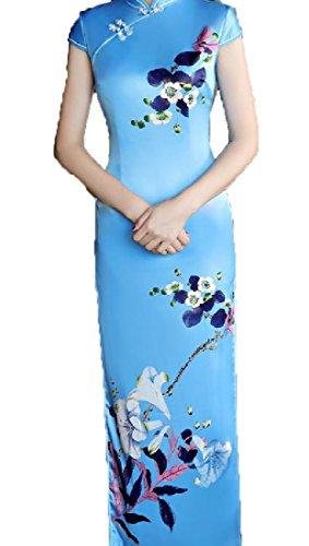 Coolred-femmes De Style Chinois Floral Manches Courtes Découpé Vêtements Chinois 5