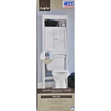 Perfect Hawthorne Place Wood Space Saver, White