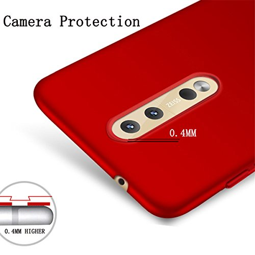 PC 8 de delgada limpieza 8 para parachoques golpes Shell Cubierta scratch Anti Back Funda para protectora Estuche de protectora Nokia nokia ultra prueba Rigid para Case Rojo negro Adamark Parrilla A 710qI
