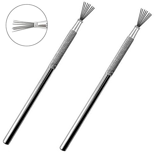 Wire Clay Tools - BronaGrand 2pcs Feather Wire Texture Tool for Clay Sculpting Texturing Modeling Tools