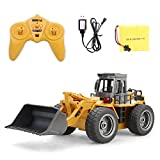 Mioloe RC Truck Alloy Shovel Loader Tractor 2.4G Radio Control Bulldozer Front Loader Construction Vehicle Electronic Toys