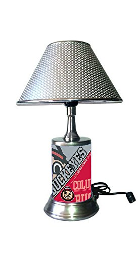 Ohio State Buckeyes Lamp with chrome shade