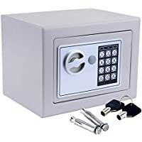 Safe Box, Dorlfin Digital Small Safe Steel Electronic Safe Deposit Box with Lock Keypad for Money Jewelry Security…