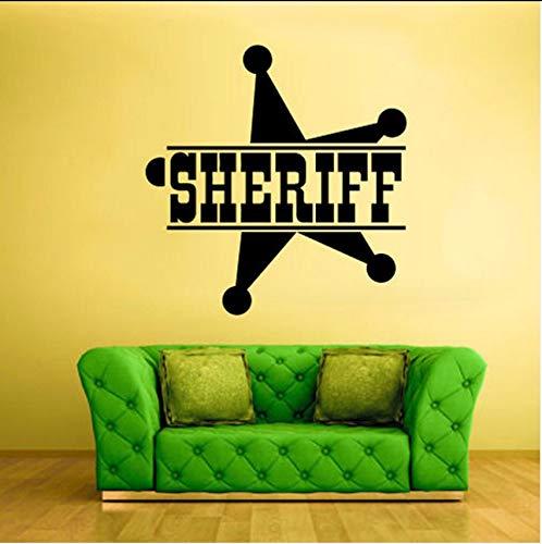Lvabc Sheriff Sign Star Palabras Símbolo Policía Pegatinas De ...