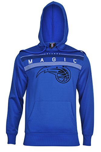 fan products of NBA Men's Orlando Magic Fleece Hoodie Pullover Sweatshirt Poly Midtown, XX-Large, Blue