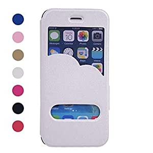 SOL Scrub Pattern PU Leather Cover with View Window for iPhone 6 Case 4.7 inch(Assorted Colors) , Golden