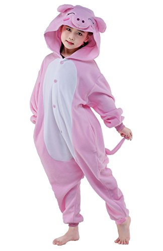 NEWCOSPLAY Halloween Unisex Kids Pajamas Unicorn Cosplay Costumes Sleepwears (115, pink (Cute Cartoon Costumes)
