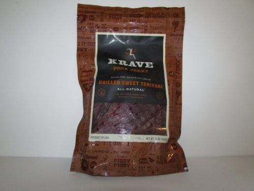 Krave Grilled Sweet Teriyaki Pork Jerky 16 Ounce