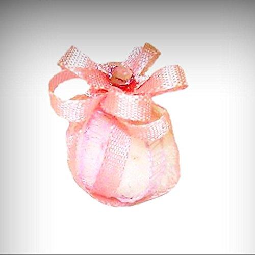 Taylor Jade Potpourri Ball w Pink Satin Ribbons 1:12 Artist Dollhouse Miniatures - My Mini Garden Dollhouse Accessories for Outdoor or House Decor (Jade Ribbon Satin)