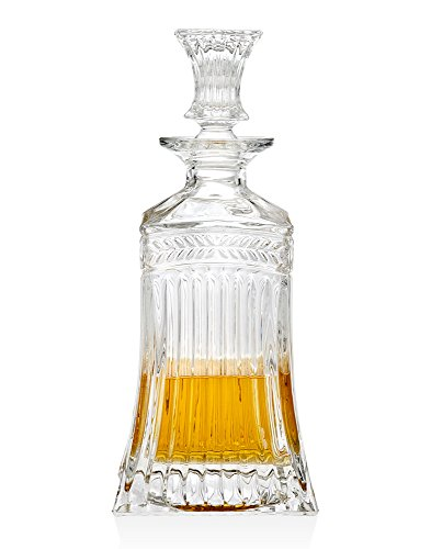 Godinger Silver Art Symphony Crystal Collection Square Whiskey Decanter, 500 ()