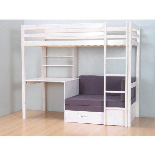 Dynamic24 Thuka Hochbett 90x200 Kiefer Massiv Bett Kinderbett Gästebett  Schreibtisch: Amazon.de: Küche U0026 Haushalt
