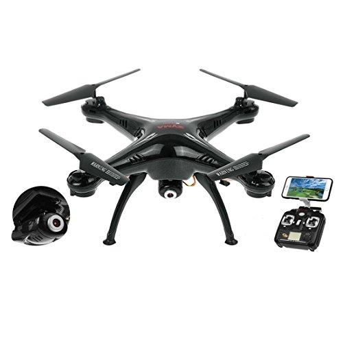 Kiditos Syma X5SW Wi-Fi FPV Real-time Camera 2.4G 4CH 6-Axis Gyro RC Drone UAV RTF UFO Headless...
