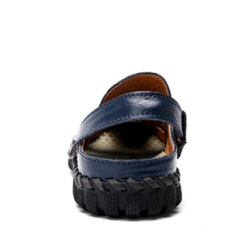 Aire Libre Al Sandalias Cuero los blue Pescador Zapatos Playa Senderismo Verano Deportivas Transpirable Hombres Casuales XAXYx