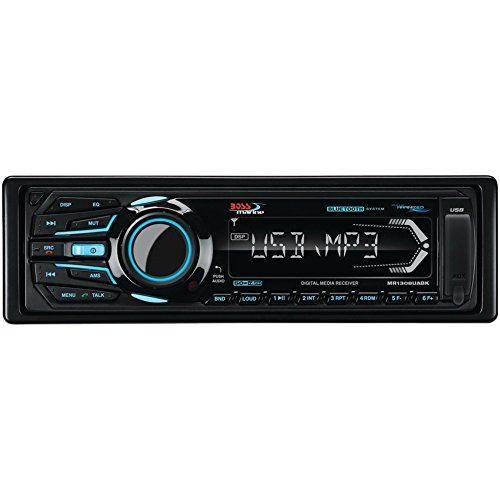 BOSS AUDIO MR1308UABK Marine Single-DIN In-Dash Mechless ...