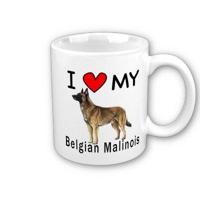 I Love My Belgian Malinois Coffee Mug (Mug Malinois Belgian)