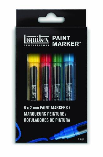 Liquitex 6-Piece Professional Paint Fine Marker Set by Liquitex