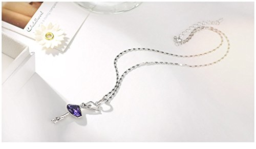 Neoglory Fashion Jewelry Violet Crystal Ballet Dance Girl ...