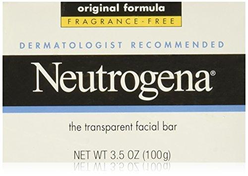 [Neutrogena Facial Cleansing Bar, Fragrance-Free, 3.5 Oz (Pack of 3)] (Facial Soap Bar)
