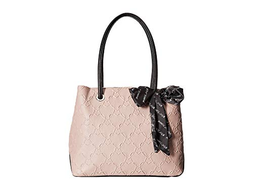 - Betsey Johnson Women's Heart Tote with Scarf Blush One Size