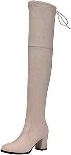 BeiaMina Boots Women Fashion Platform Long Boots High Heel