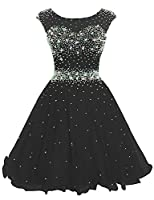 Sarahbridal Women's Short Tulle Beading Homecoming Dresses Prom Party Gowns