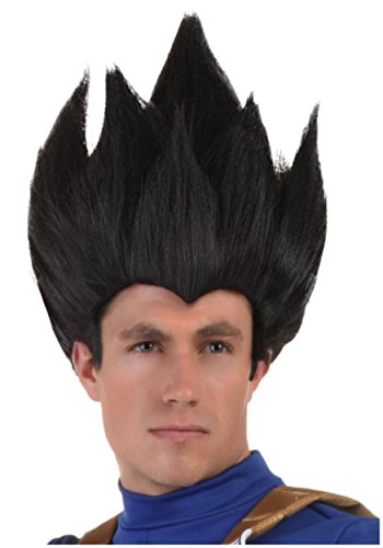 Fun Costumes Adult Vegeta Wig Standard Black