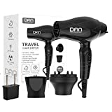 DAN Technology D38 Compact Travel Hair Dryer 1200W Dual Voltage 125-250V Mini Blow