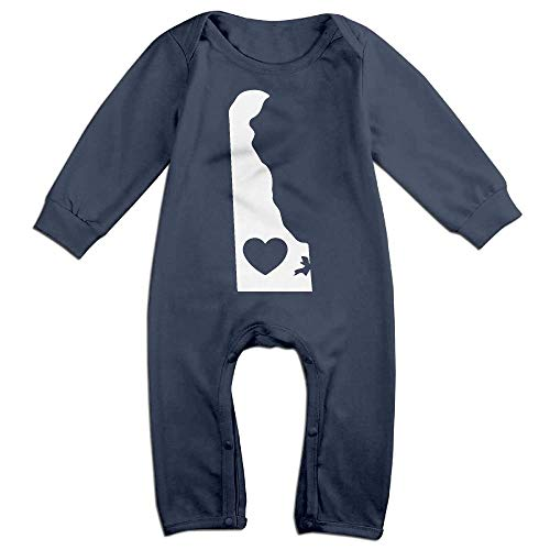 TYLER DEAN Newborn Baby Coverall Delaware Heart-2 Baby Clothes -