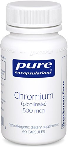Pure Encapsulations - Chromium Picolinate (500 mcg) - Hypoallergenic Support for Healthy Lipid and Glucose Metabolism* - 60 Capsules