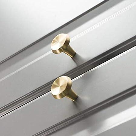 Tiradores Cajones Cocina para Puertas Cajones y C/ómodas Oro Estilo champi/ñ/ón 25mm 10 Piezas S/ólido Lat/ón Pomos para Armario