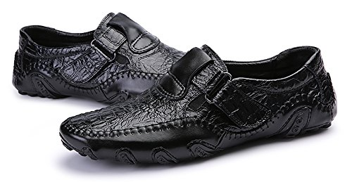 Mohem Men's Octopus Comfort Driving Car Soft Flats Loafers Casual Boat Shoes(16872988Black43)